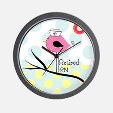 Retired RN pillow 2 Wall Clock