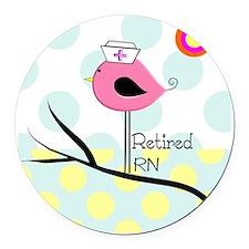 Retired RN pillow 2 Round Car Magnet