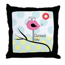 Retired RN pillow 2 Throw Pillow