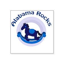 "Alabama Rocks Blue Square Sticker 3"" x 3"""