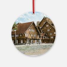 Old Faithful Inn, Yellowstone Park, Round Ornament