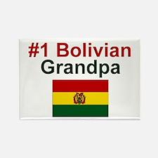 #1 Bolivian Grandpa Rectangle Magnet