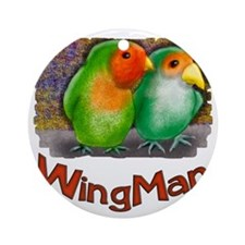 Wing Man Round Ornament