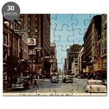 Playhouse Square, Cleveland, Ohio Vintage Puzzle