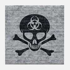Skull  Crossbones (brick) Tile Coaster
