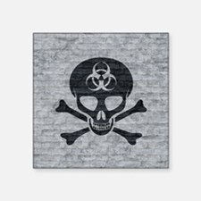 """Skull  Crossbones (brick) Square Sticker 3"""" x 3"""""""