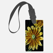 Abstract Yellow Flowers Luggage Tag