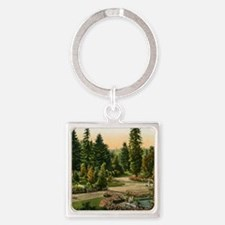 Washington Park, Portland, Oregon, Square Keychain