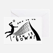 Slam It Down Greeting Card