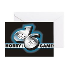d6 logo black Greeting Card