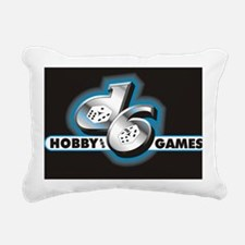 d6 logo black Rectangular Canvas Pillow