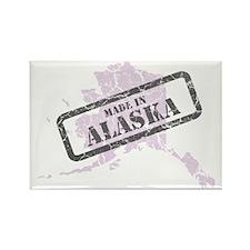 Alaska Map Made in Alaska Pink Rectangle Magnet