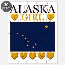 Alaska Girl Flag Puzzle