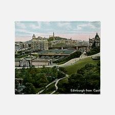 Edinburgh, Scotland, Vintage Throw Blanket