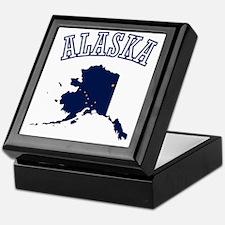Alaska Map Design Keepsake Box