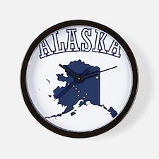 Alaska Map Design Wall Clock