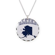 Alaska Map Design Necklace
