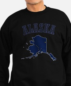 Alaska Map Design Sweatshirt