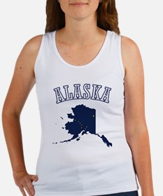 Alaska Map Design Women's Tank Top