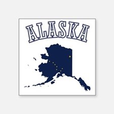 "Alaska Map Design Square Sticker 3"" x 3"""