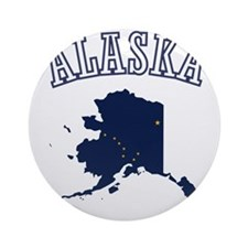 Alaska Map Design Round Ornament