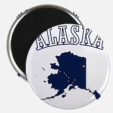 Alaska Map Design Magnet
