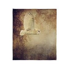 Barn Owl Throw Blanket