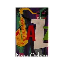 Vintage New Orleans Travel Rectangle Magnet