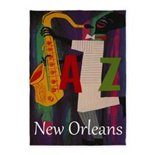 Vintage New Orleans Travel 5'x7'Area Rug