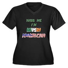Kiss Me I'm Irish American Women's Plus Size V-Nec