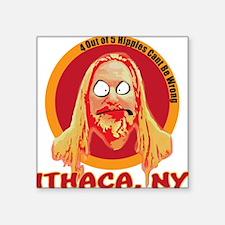 """Ithaca Hippie Square Sticker 3"""" x 3"""""""