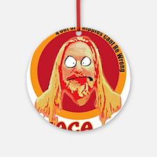 Ithaca Hippie Round Ornament