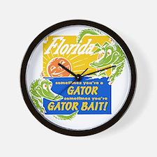 Florida Gator Bait Wall Clock