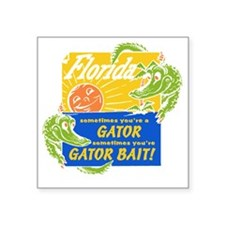 "Florida Gator Bait Square Sticker 3"" x 3"""