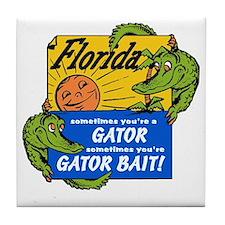 Florida Gator Bait Tile Coaster