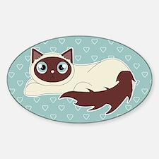 Cute Ragdoll Cat - Siamese Markings Decal