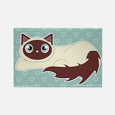 Cute Ragdoll Cat - Siamese Markin Rectangle Magnet