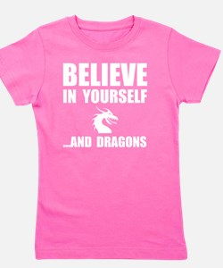 Believe Yourself Dragon Girl's Tee