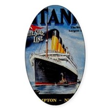 Vintage Titanic Travel Decal