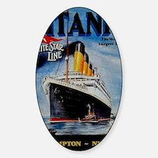 Vintage Titanic Travel Decal