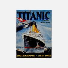 Vintage Titanic Travel 5'x7'Area Rug