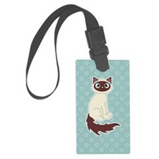 Cute Ragdoll Cat - Siamese Marki Luggage Tag