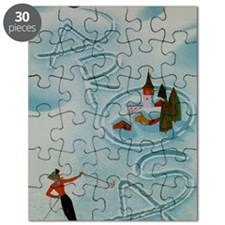 Vintage Arosa Switzerland Travel Puzzle