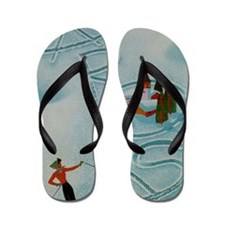 Vintage Arosa Switzerland Travel Flip Flops