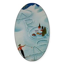 Vintage Arosa Switzerland Travel Decal