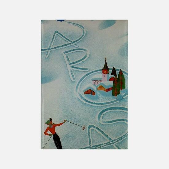 Vintage Arosa Switzerland Travel Rectangle Magnet