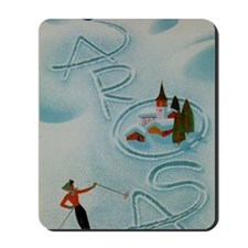 Vintage Arosa Switzerland Travel Mousepad