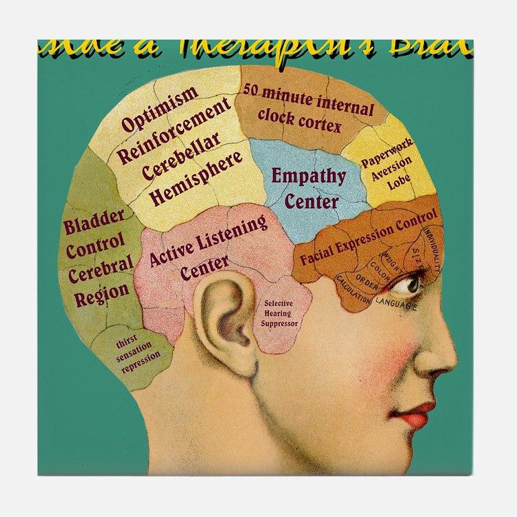 Inside a Therapists Brain Tile Coaster