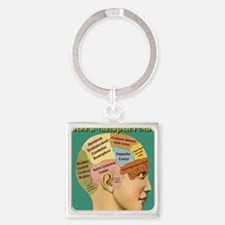Inside a Therapists Brain Square Keychain