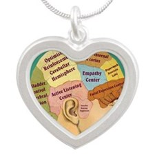 Inside a Therapists Brain Silver Heart Necklace